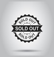 sold out grunge rubber stamp on white background vector image vector image