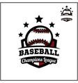 sport ball champions league logo vector image vector image