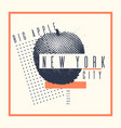 stylish poster new york the big apple on abstract vector image vector image