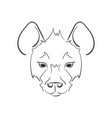 stylized muzzle hyena black and white sketch for vector image vector image