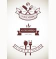 templates restaurant logos vector image vector image