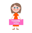 Thank You Woman vector image vector image