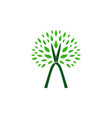 tree cutting service logo icon vector image