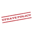 Update Policy Watermark Stamp vector image vector image