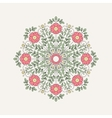Vintage round flower for design vector image vector image