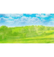watercolor landscape on white vector image vector image