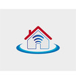 Wireless house symbol wifi house icon vector image vector image