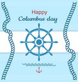happy columbus day poster vector image