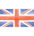english flag great britain watercolor painted vector image