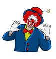 hand drawn clown icon vector image
