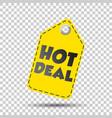hot deal yellow hang tag vector image