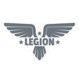 legion wing logo simple gray style vector image