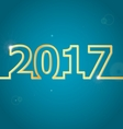 2017 Happy New Year on blue background vector image vector image