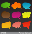 3D Bubbles Speech vector image