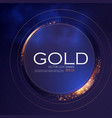 abstract shining circle gold banner with light vector image vector image