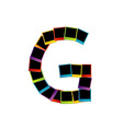 Alphabet G with colorful polaroids vector image vector image