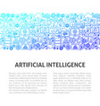 artificial intelligence line design template vector image vector image