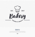 bakery logo with thin line icon vector image vector image