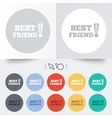Best friend ever sign icon Award symbol vector image vector image