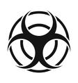 Biohazard sign round simple icon vector image