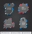 black badge stickers collection vector image