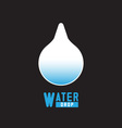 Blue shiny water drop vector image vector image