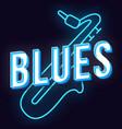 blues vintage 3d lettering retro bold font vector image