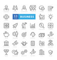 business and finance web icon set - outline icon vector image