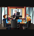 business people on a video conference vector image