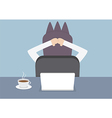 Businessman relaxing in the office at his desk vector image