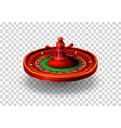 casino roulette object realistic vector image vector image