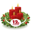christmas advent background vector image vector image
