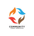 community organization logo design template vector image vector image