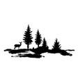 composition forest silhouette landscape vector image vector image
