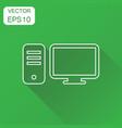 computer icon business concept computer desktop vector image