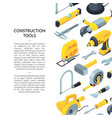 construction tools isometric icons vector image vector image