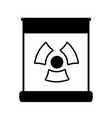 Contour poster with radiation symbol of danger