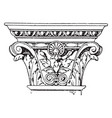 corinthian pilaster capital an italian vector image vector image