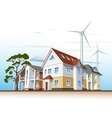 country houses alternative energy vector image vector image