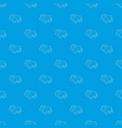 cow pattern seamless blue vector image vector image