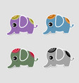 cute elephant icon with shadow vector image vector image