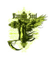damned soul vector image vector image