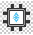 ethereum classic mining pool icon vector image