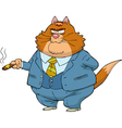 fat cat boss vector image