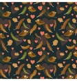 feathers and birds pattern vector image vector image