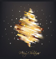 golden christmas tree in modern vibrant style vector image