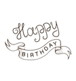 Greeting text for birthday vector image vector image