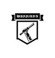hand held broken sword warrior logo vector image vector image