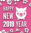 happy chinese new year background with cut paper vector image vector image
