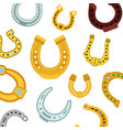 horseshoes seamless pattern vector image vector image